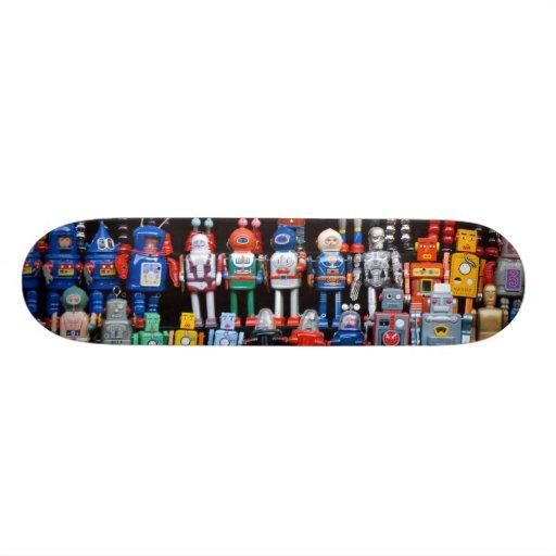 Vintage iron tin toy robot collection skateboard