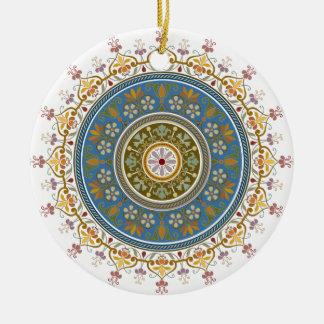 Vintage Islamic Pattern Design Round Ceramic Ornament