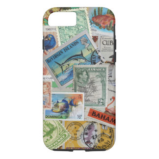Vintage Island Stamps iPhone Case