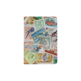 Vintage Island Stamps Passport Cover