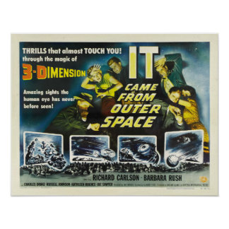 Vintage It Came From Outer Space Science Fiction Poster