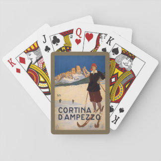 Vintage Italian Alps playing cards