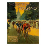 Vintage Italian Bicycle Ad Poster