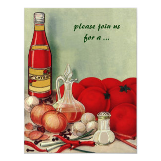 Vintage Italian Food, Cooking Party Invitation