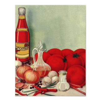 Vintage Italian Foods Tomato Catsup Invitation