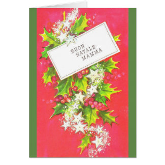 Vintage Italian Mother Christmas Greeting Card