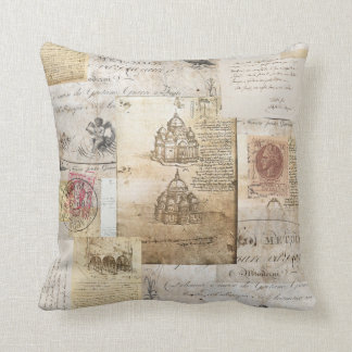 Vintage Italian Rome Cathedral Pillow