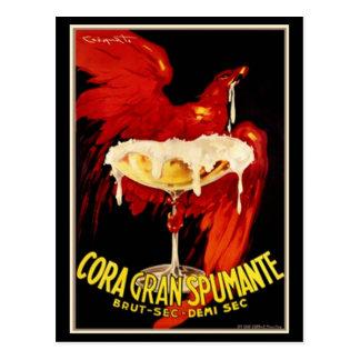 Vintage Italian Spumante Advertisement Postcard
