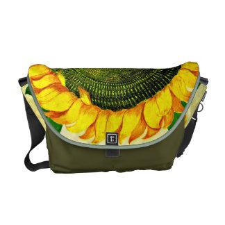 Vintage Italian Sunflower Messenger Bag