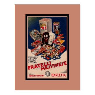 Vintage Italian sweets advertising Postcard