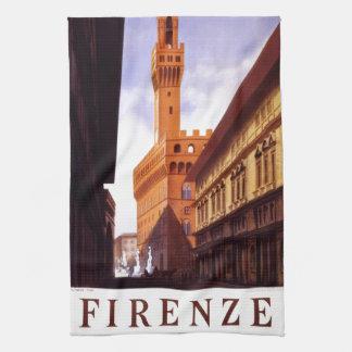 Vintage Italian Tourism Poster Scene Kitchen Towel