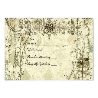 Vintage Italian Verdigris rsvp with envelopes Card