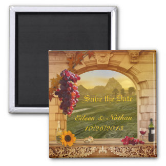 Vintage Italian Vineyard Fall Save the Date Magnet