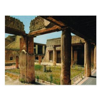 Vintage Italy, Antiquities, Herculaneum Postcard