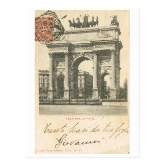 Vintage Italy, Arco della Pace, Milano Postcard