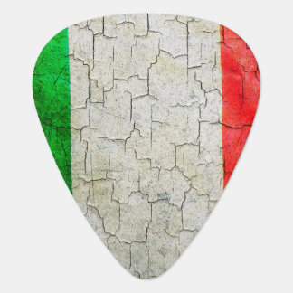 Vintage Italy flag on a brick wall Guitar Pick