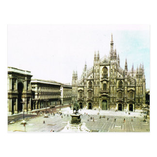 Vintage Italy, Milan Cathedral Postcard