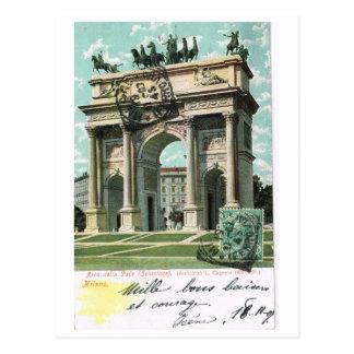Vintage Italy, Milano, Arc della Pace 1904 Postcard