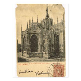 Vintage Italy, Milano, Cathedral, 1895 Postcard