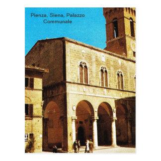Vintage Italy, Pienza, Siena, Palazzo Communale Postcard