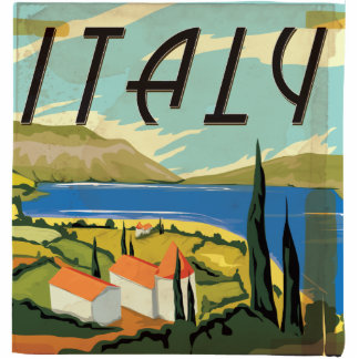 Vintage Italy Poster Standing Photo Sculpture