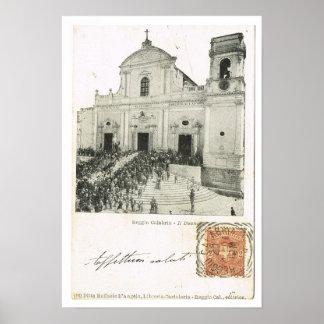 Vintage Italy, Reggio di Calabria, Duomo, 1901, Poster
