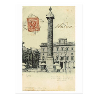 Vintage Italy, Roma Piazza Colonna, 1901 Postcard