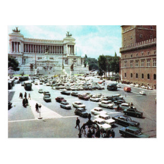 Vintage Italy,  Rome, Piazza Venezia Postcard