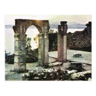 Vintage Italy,    Sirmione, Garda, Roman ruins Postcard