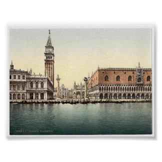 Vintage Italy  Venice  1890's Poster