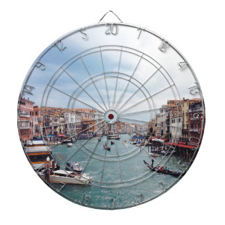 Vintage Italy Venice Canal Photo Dartboard