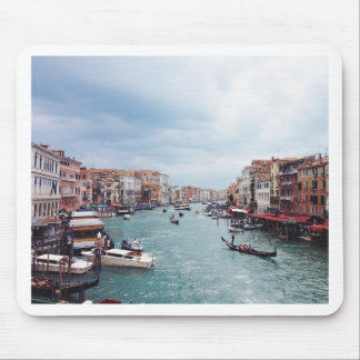 Vintage Italy Venice Canal Photo Mouse Pad