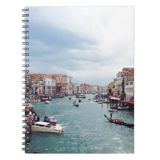 Vintage Italy Venice Canal Photo Notebook