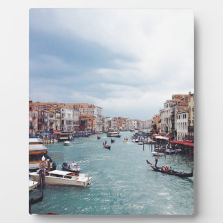 Vintage Italy Venice Canal Photo Plaque