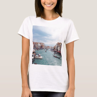 Vintage Italy Venice Canal Photo T-Shirt