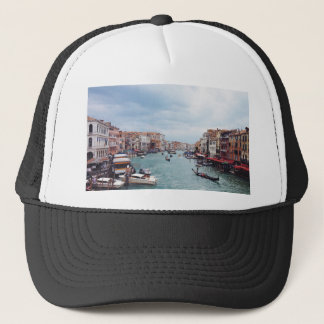 Vintage Italy Venice Canal Photo Trucker Hat