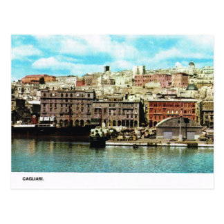 Vintage Italy,  Waterfront, Cagliari Postcard