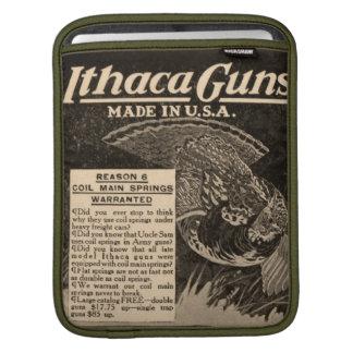 Vintage Ithaca Shotgun Hunting Apple iPad Sleeve