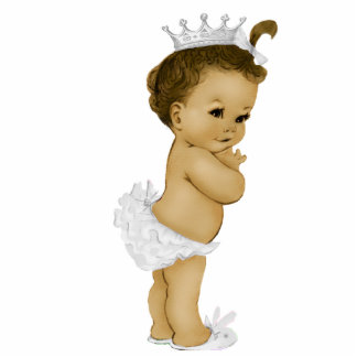 Vintage Ivory Princess Baby Girl Shower Photo Cut Out