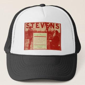 Vintage J Stevens Firearms Red Gun Ad Trucker Hat