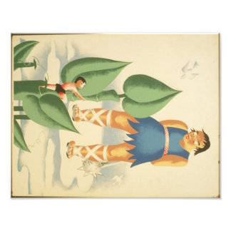 Vintage Jack and the Beanstalk WPA Poster Photographic Print