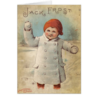 Vintage Jack Frost Winter Greeting Card