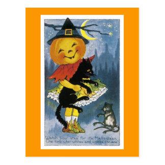Vintage Jack o' Lantern Child Postcard