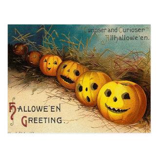 Vintage Jack O'Lanterns Halloween Postcard