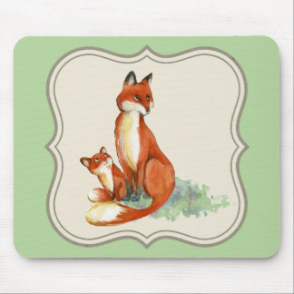 Vintage jackal illustration mouthpade, green mouse pad