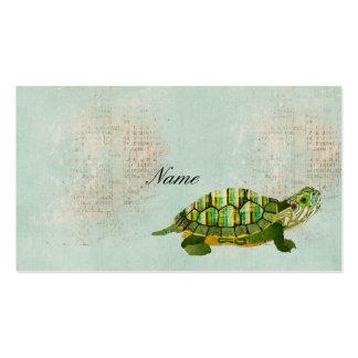 Vintage Jade Turtle Business Card Tags