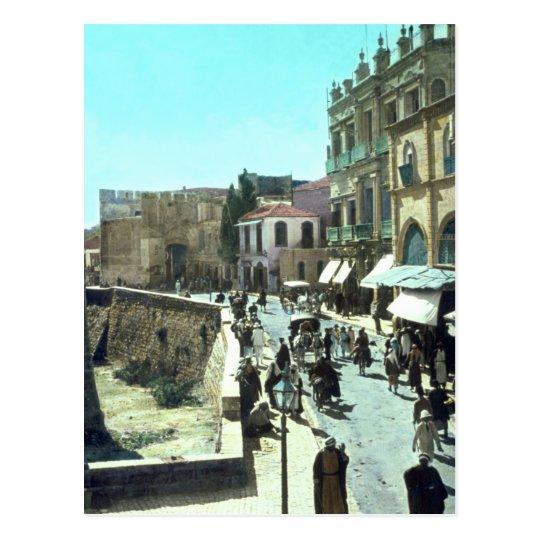 Vintage Jaffa Gate Jerusalem Israel 1950 - 1977 Postcard