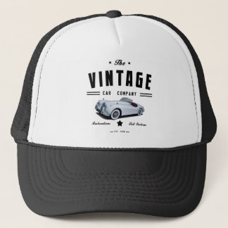 Vintage Jaguar Car Garage Trucker Hat