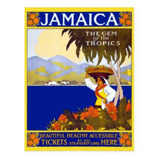 Vintage Jamaica Gem of the Tropics Travel Postcard