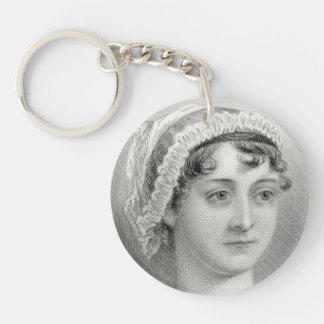 Vintage Jane Austen Illustration Keychain
